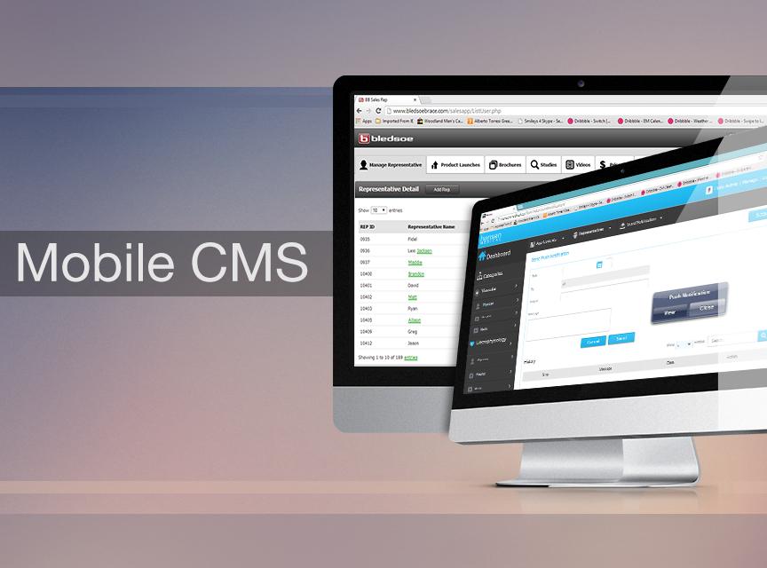 Mobile App Content Management System